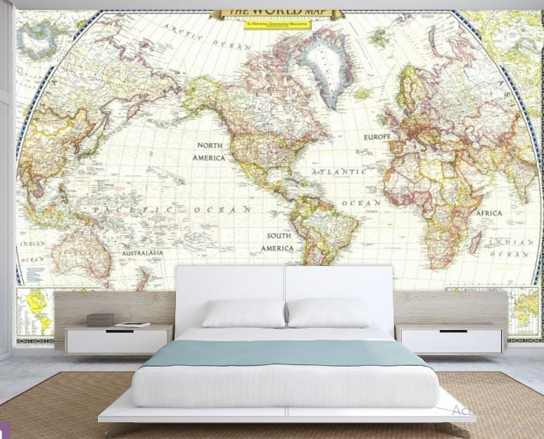 World map wall decal wallpaper world map old map wall decal request a custom order and have something made just for you gumiabroncs Choice Image