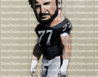 Lyle Alzado, Los Angeles Raiders NFL Art Photo Print