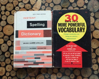 1960s Vintage Spelling and Vocabulary Reference Books