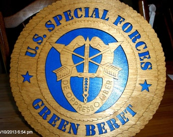Special Forces Green Beret Wall Tribute