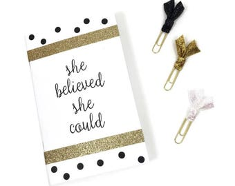 Journal gift set - black, white, and gold - Bullet Journal - The Classic Collection