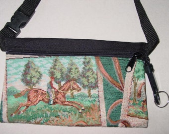 Tapestry Horse Tapestry Travel-Lite Hip Pack Equestrian Handbag, Equestrian Purse