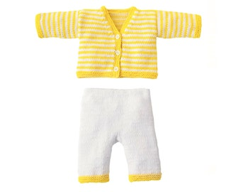 Knit Cashmere Cardigan/Jacket  and Pants - Two Piece Set for Baby Girl Boy 100% Cashmere