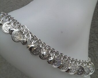 Jingle Bell Anklet | Bell Anklet | Coin and Bell Ankle Bracelet | Anklets for Women | Boho Anklet | Free Shipping