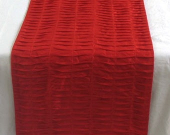 Bright red table runner and 12 piece napkin set  - made to order for blueshoes223
