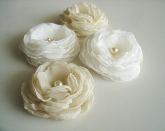 Wedding Accessories Ivory Champagne hair flower, Wedding  Ivory bridal flower clip , Wedding hair accessories, Bulk Flower hair clip