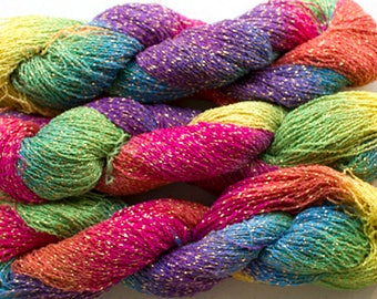 Sparkle,  fine cotton/metallic yarn, 300 yds - Holi