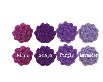 """1"""" Purple Lavender Felt Rosette Flower"""