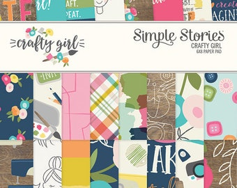 Simple Stories Crafty Girl 6x8 Paper Pad #10195
