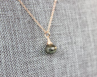 Rose Gold Pyrite Onion Necklace