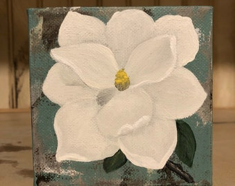 Mother's Day gift, Magnolia painting, farmhouse decor, floral art, original art