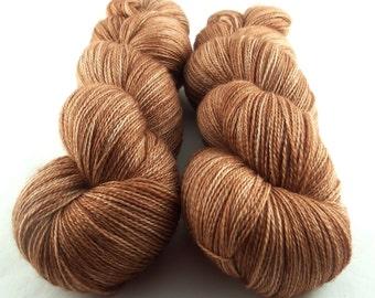 Ferrugo - Hand Dyed Superwash Merino Silk Lace Yarn