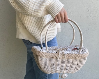 Picnic Basket Purse with Berries - Vintage