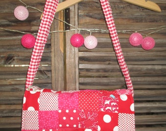 Kids Messenger bag with patchwork