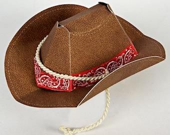 Western Cowboy Party Hat- Cowboy Party Favors-Western Day-Meri Meri Howdy Cowboy Hat-Set of 8