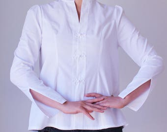 White Linen top,Linen blouse,Women white shirt,Shirts for women,Button down shirt,Women linen clothing,Long sleeve blouse,Button up shirt