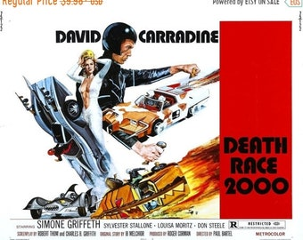 SPRING SALE: DEATH Race 2000 Movie Poster Stallone