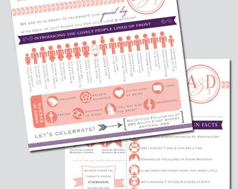Printable Square Wedding Program Infographic