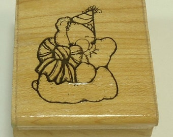 Beary Special Day Wood Mounted Rubber Stamp By DOTS S 137 Birthday, Birth, Shower, Baby, Celebration, Party