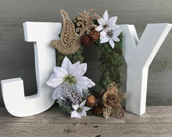 Christmas JOY, Christmas Decor, Mantle Decor, Joy Sign, Christmas Sign, Holiday Decor, Christmas Mantle Decor, Winter Sign, Holiday Sign