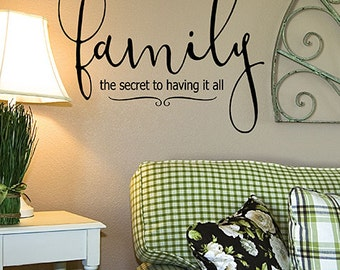 Family Vinyl wall decal words, Dining room decor, Living room wall decal, Mudroom Decal, housewarming gift, Adoption gift, Mothers day gift