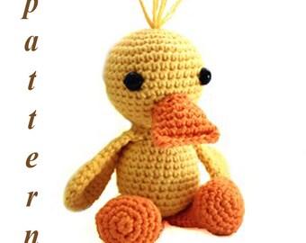 Crochet pattern, Amigurumi pattern, Crochet duck, Amigurumi duck, Crochet animal pattern, Stuffed toy, Amigurumi crochet pattern