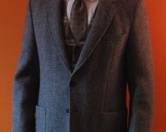 Grey Harris Tweed Jacket sz 40