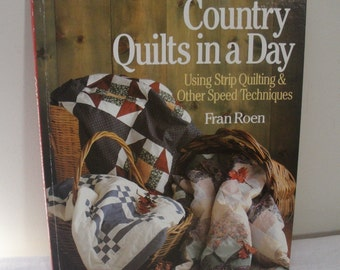 Vintage Country Quilts in a Day Book