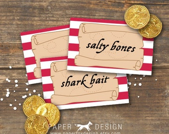 Pirate Tent Cards Printable - Place Cards