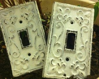 Cast Iron Light Switch Plate / Single Cast Iron Plate / Witch Plates / Metal Switch Plates - Set of 2