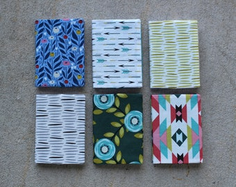 ORGANIC Mini Notebook - Various Colors/Patterns - Mini Composition Book