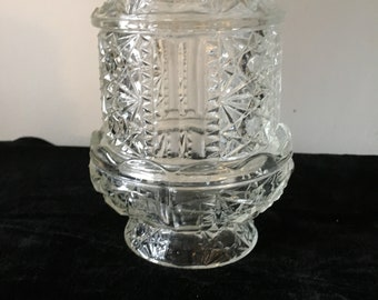 Fairy Lamp Clear Glass with Star Design