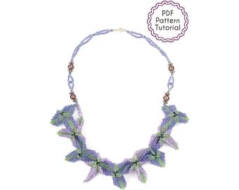 Corsican Flowers Beadwork Necklace Pattern Beading Tutorial PDF Seed Beads Advanced Bead Art