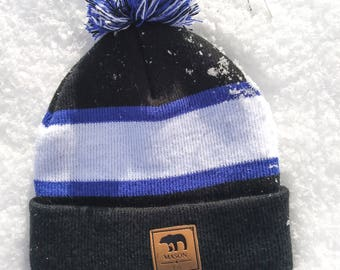 Baby Royal Blue, Black and White Beanie