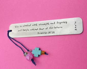 Bible Bookmark Personalized Bookmark First Communion Bookmark Confirmation Bookmark Custom Bookmark Metal Bookmark Bible Verse Bookmark