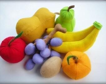 Happy Fruits PDF Felt Sewing Pattern