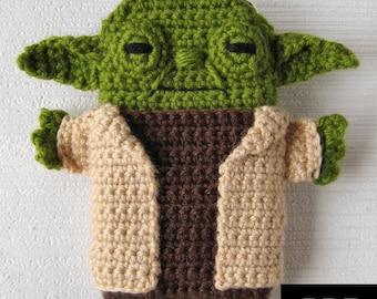 PDF PATTERN -Yoda - Star Wars - iPhone 7, 6, 5 crochet case (cozy, sleeve, cover)