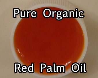 VIRGIN RED PALM Oil, Sustainable & Pure (1 lb or 2 lb size)