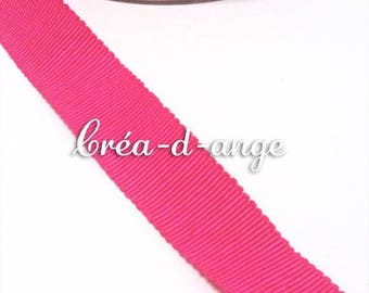 Grosgrain Ribbon pink Fuchsia 16mm wide sold by 10cm