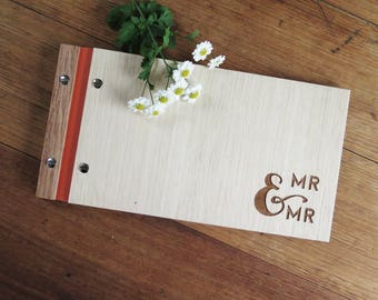Mr and Mr Wedding Guestbook, Engagement Gift, Anniversary Gift, Wedding Guest Book, Same Sex Marriage