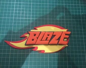 Blaze and the monster trucks logo cake topper