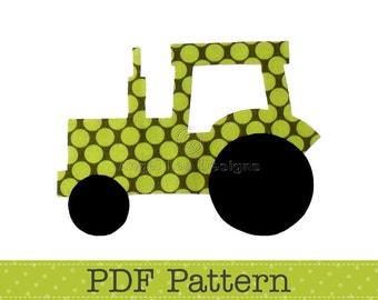 Tractor Applique Template, Transport, Farm, DIY, Children, PDF Pattern by Angel Lea Designs, Instant Download Digital Pattern