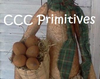 Primitive Pattern - Willie Rabbit E-Pattern - Rabbit Pattern - Primitive Rabbit Pattern - Prim Bunny Pattern  - Spring Rabbit Pattern