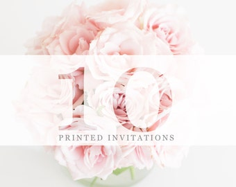 10 Premium Printed Invitations | White Envelopes