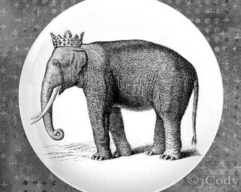 Elephant princess plate