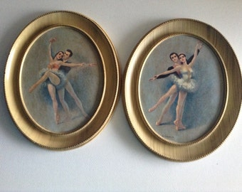 Vintage Ballerina Pictures Vintage Ballerina Pictures By Gina Oval Shaped Ballerina Dancing Pictures Girls Room Decorations Vintage Pictures