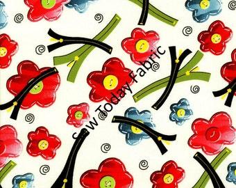 Zippity Zippers White by Dana Brooks - Henry Glass Fabrics 9709-44 (sold by the 1/2 yard)