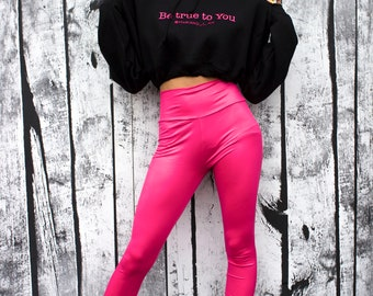 Female Cropped coldshoulder Hoodie (Be True to you)