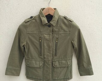 Japanese Brand Jewel Changes Cropped Military Style Jacket