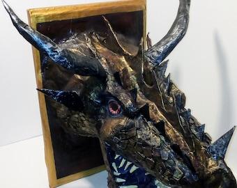 3D Mounted Dragon's Head